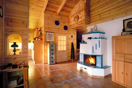 Ein Wohnzimmer Im Landhausstil Sorgt Für Gemütlichkeit Und Wärme