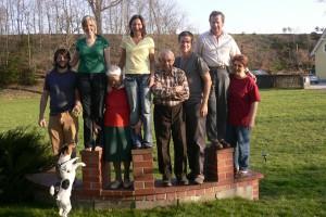 Fotowand der Familie